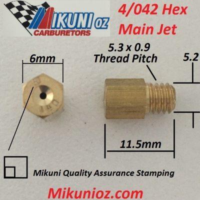 Mikuni Main Jet Large Hex 4042