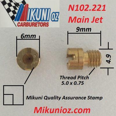 Mikuni Main Jets N102.221
