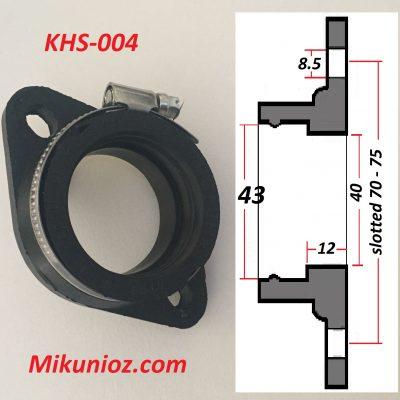 Mikuni Rubber Mounting Flange KHS004