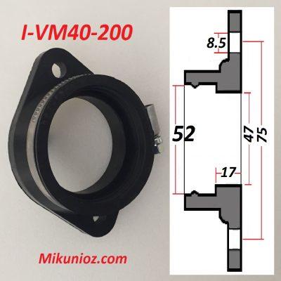 Mikuni Rubber Mounting Flange i vm40 200