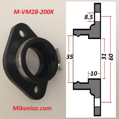 Mikuni Rubber Mounting Flange vm28 200