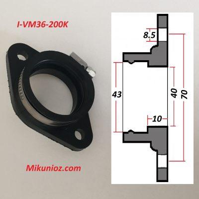 Mikuni Rubber Mounting Flange vm36 200