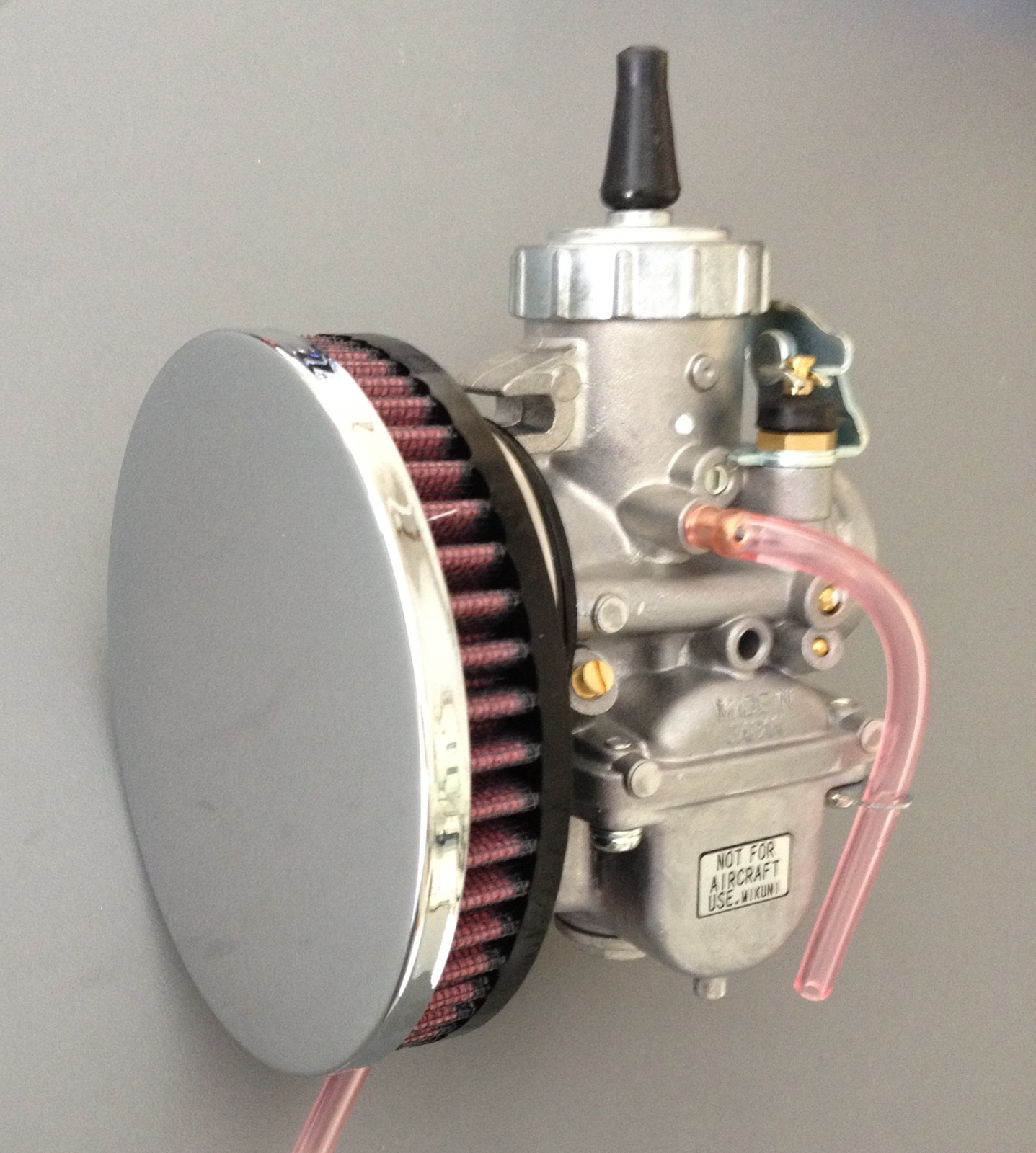 Mikuni Air Cleaner : Pancake air cleaner suits mm carb spigot inch wide