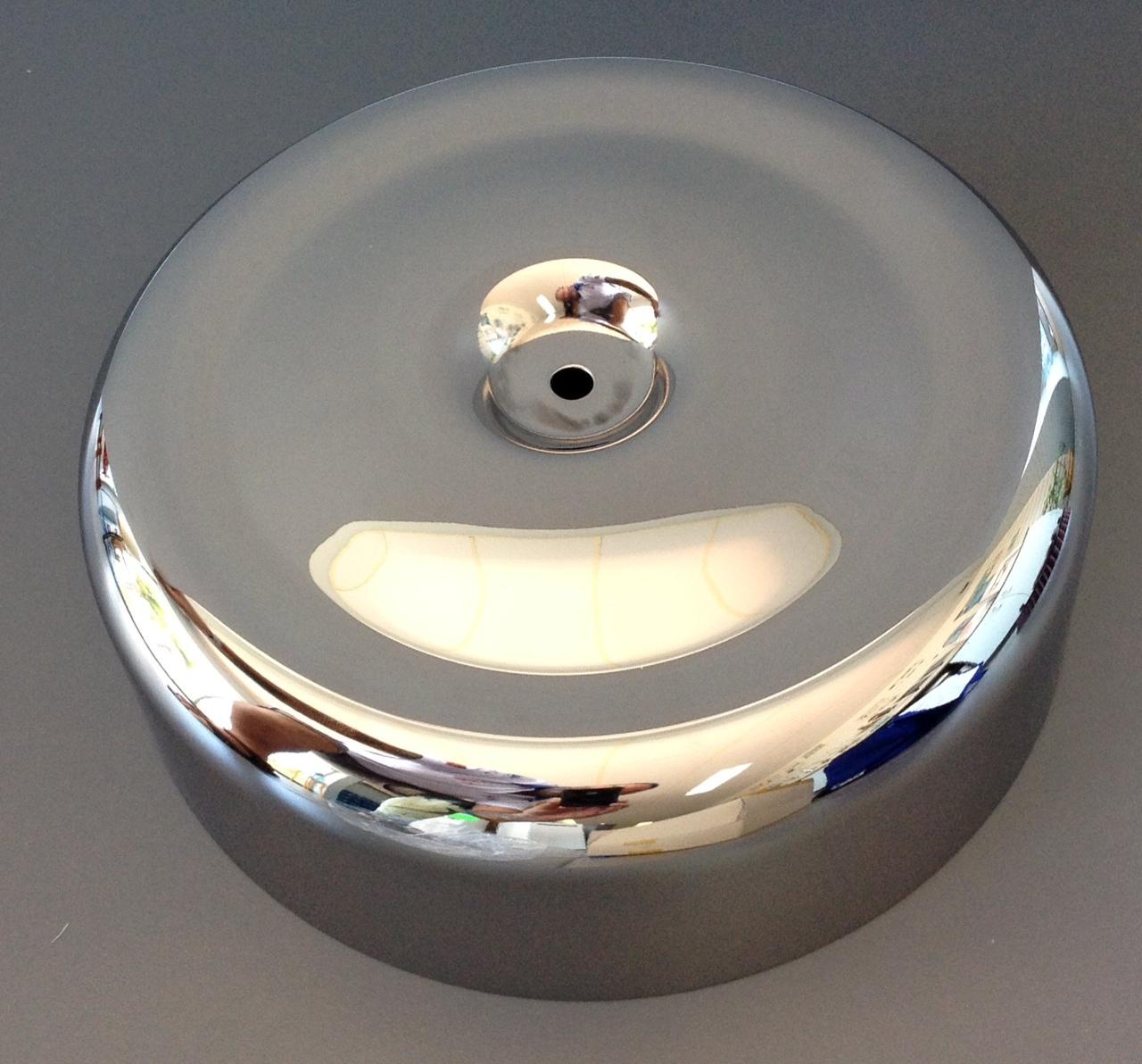 Mikuni Air Cleaner : Hs chrome air cleaner cover with cutouts mikunioz