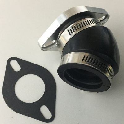 Mikuni 34mm carb 45 degree mount flange & boot