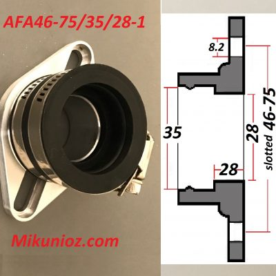 Mikuni Mounting Flange and boot 24 26 28 carb