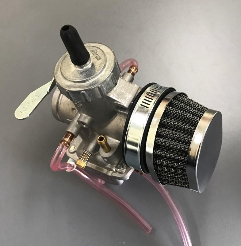 Mikuni Air Cleaner : Oval pod air filter black mikuni carbs with mm
