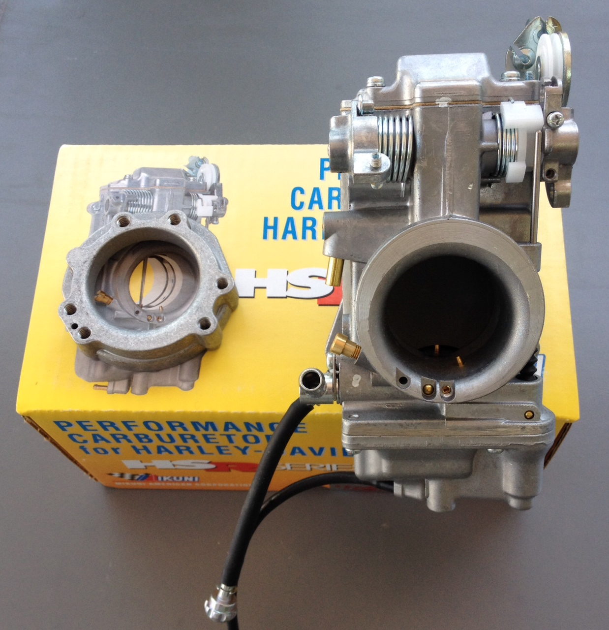 Mikuni HSR Carb Carburetor 42-18 42 mm Easy Kit Harley EVO Twin Cam Evo