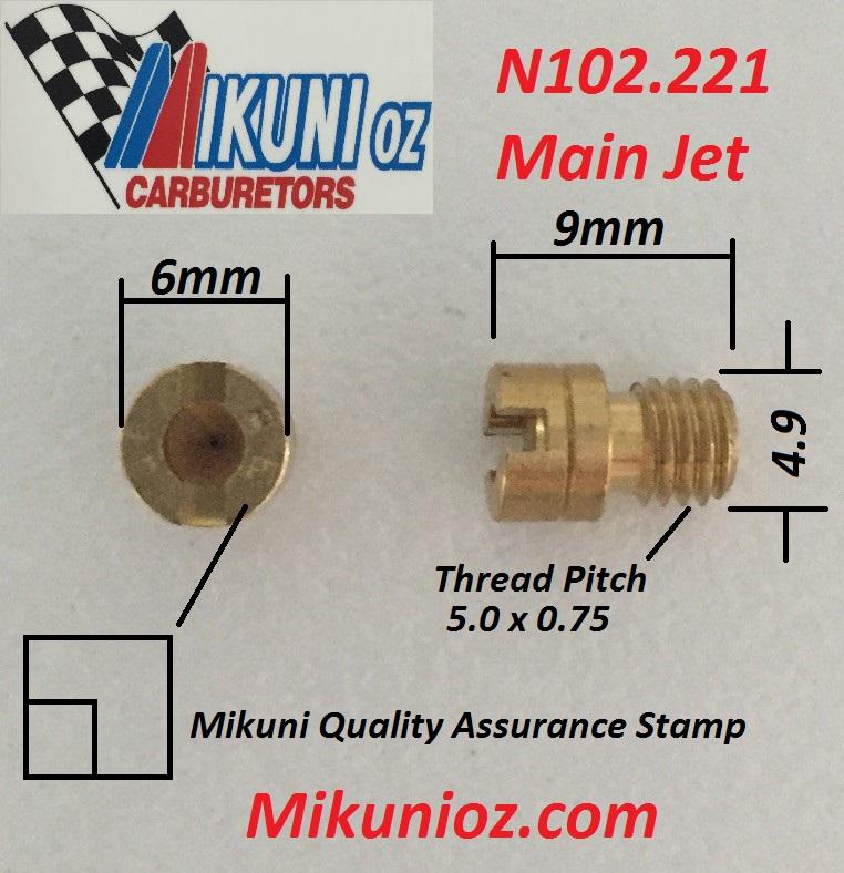 New Mukuni N102.221 Main Jets Brass Slotted Head Jetski PWC Size 200