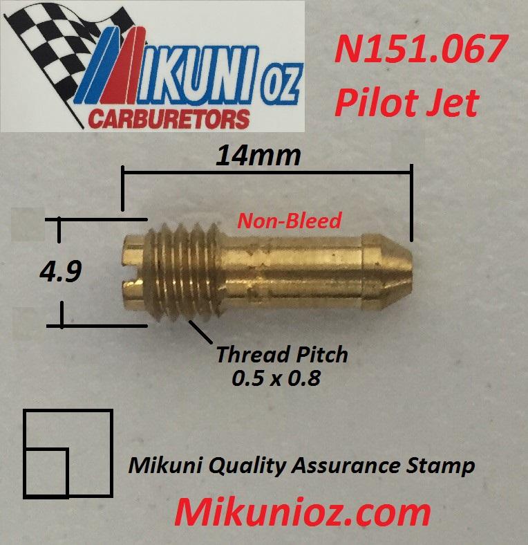 Pilot Jets Mikuni Style N151.067-35 JET-MIKUNI 4//PK 151-35 Manufacturer: EBC