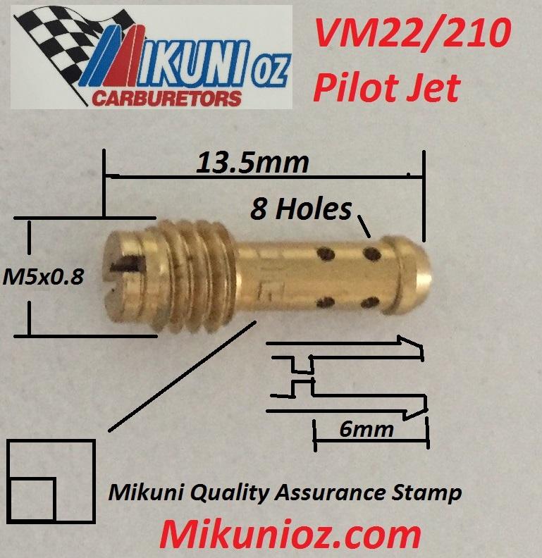 2FastMoto Mikuni Pilot Jet Type VM22//210 Size 45 for VM TM TMX Carburetors NEW