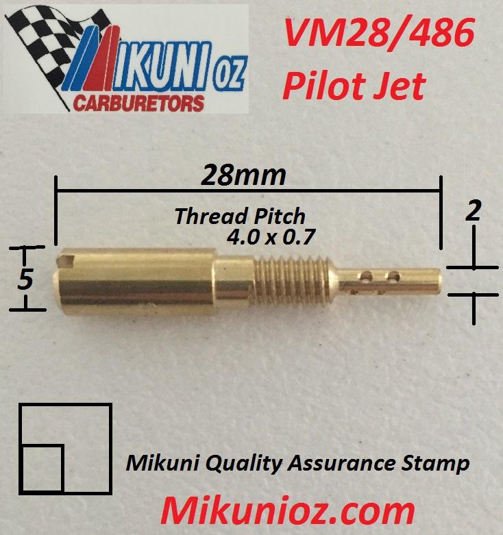 Mikuni Pilot Jet KVM28//486-20
