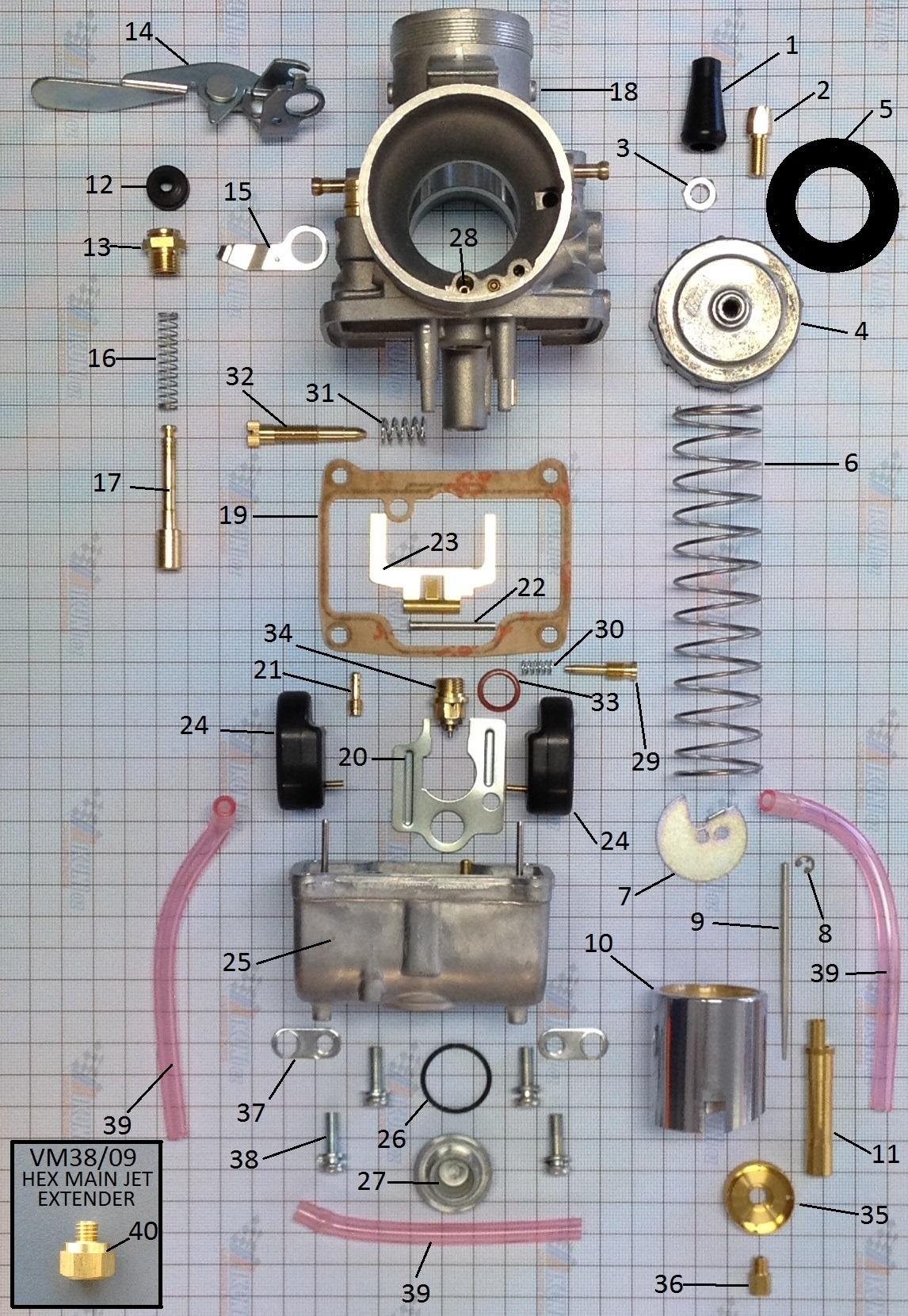 vm34 carb parts