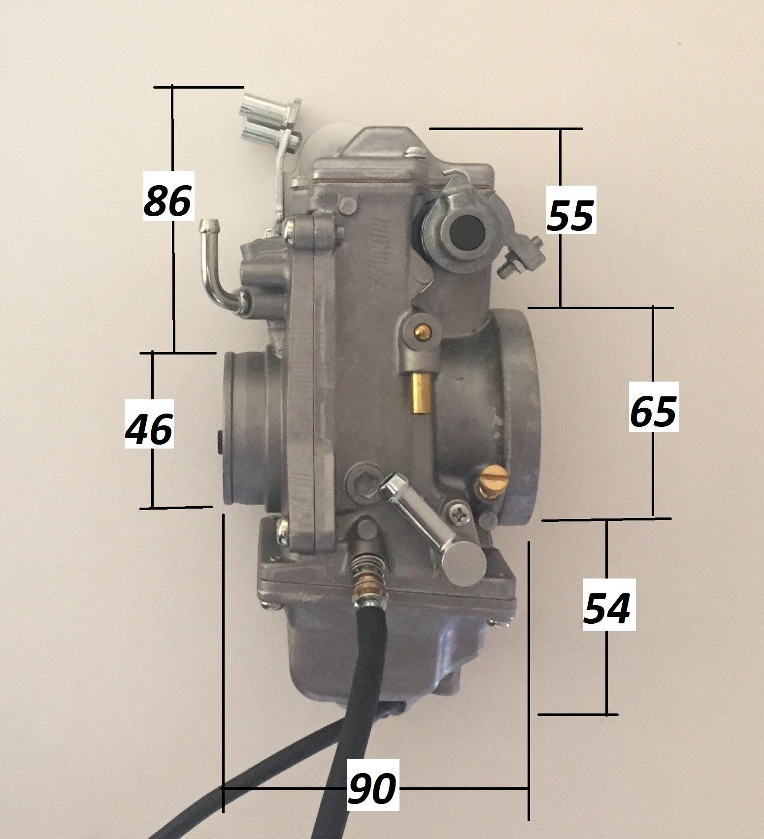 1  TM42-6, HSR 42mm Mikuni Carburetor, Natural or Polished/Chrome