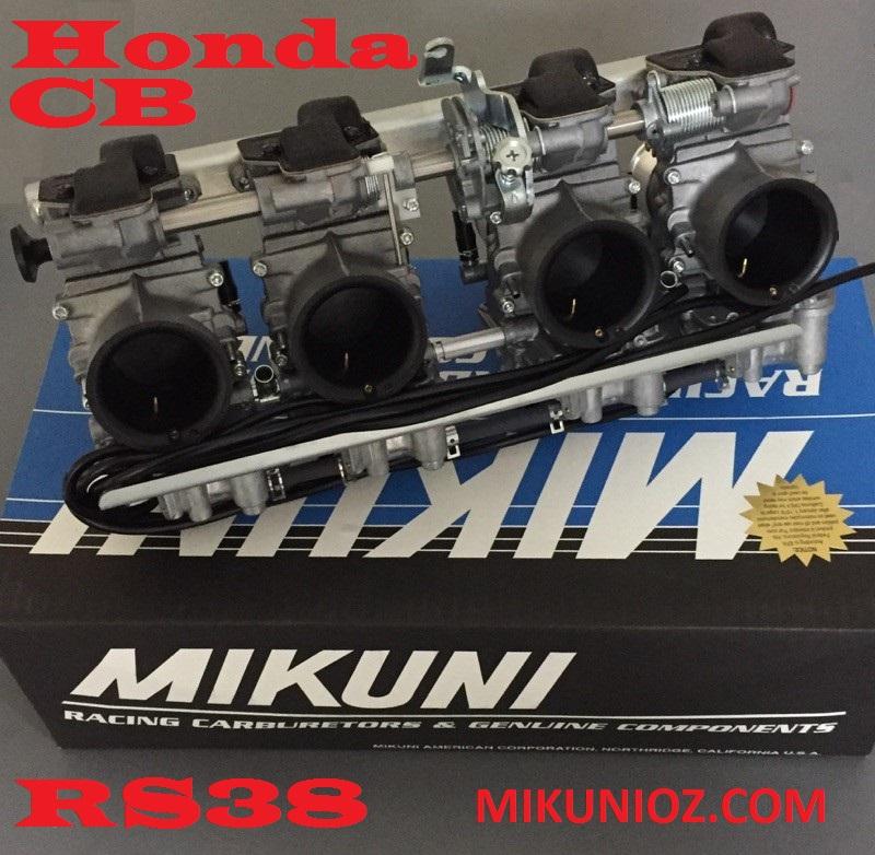 Mikuni RS38 Carb Kit- Honda Four DOHC CB 1100, CB900, CB750 Engines