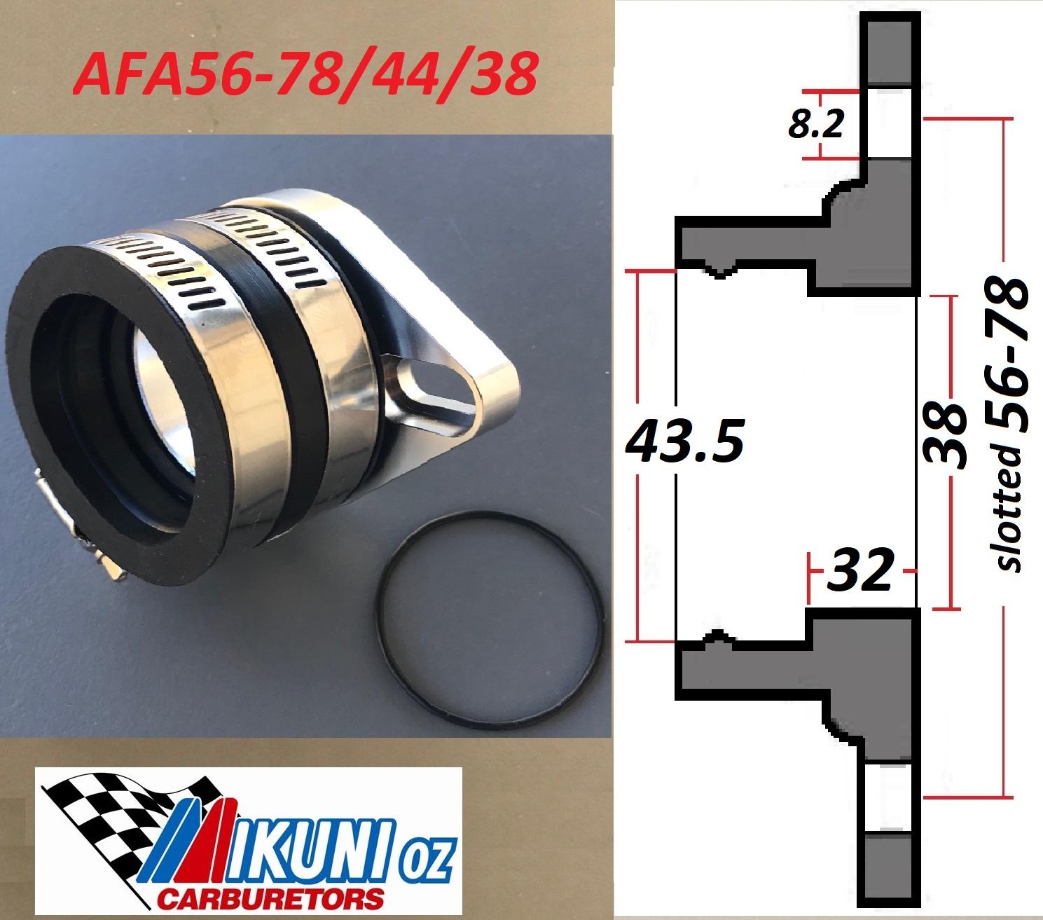 30-34mm Mikuni Manifold Flange intake boot 38mm Opening /& 75mm Hole Span NEW!